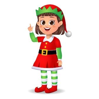 La ragazza in abito da elfo ha un'idea