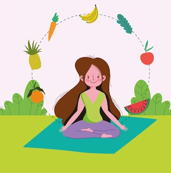 Ragazza meditando uno stile di vita sano