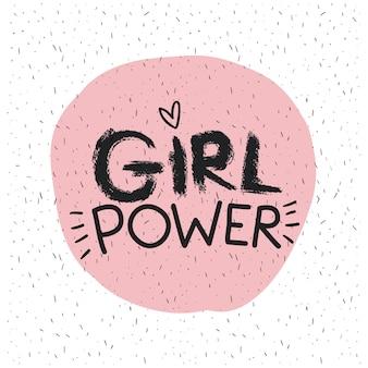 Emblema di potenza della ragazza