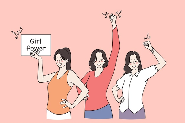 Girl power e concetto di femminismo