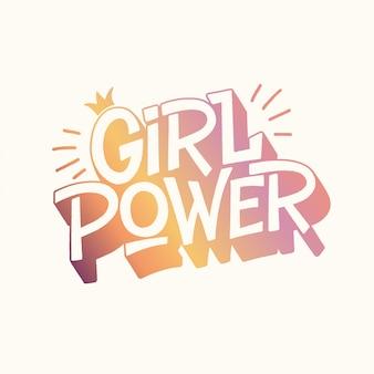 Iscrizione della mano di potere della ragazza
