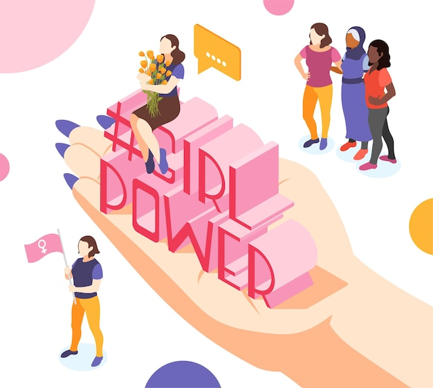 Illustrazione di potere della ragazza