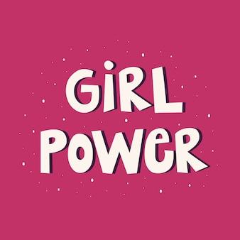 Lettering potere ragazza.