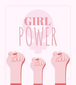 Poster di potere della ragazza