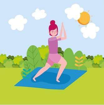 Ragazza che pratica esercizio