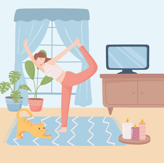 Ragazza che pratica yoga