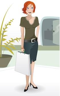 Centro commerciale ragazza compras