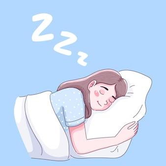 La ragazza dorme bene
