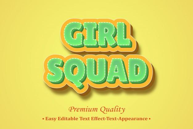 Squadra della ragazza 3d style style effectnt