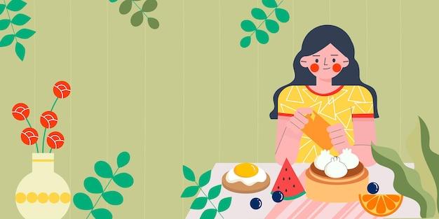 Una ragazza che scatta foto di cibo
