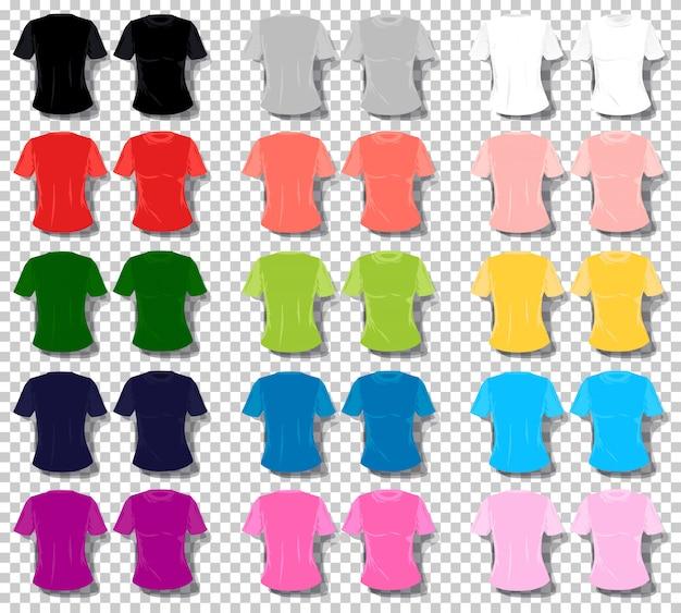 Maglietta unisex delle donne di colore stabilito del fumetto della maglietta della ragazza.