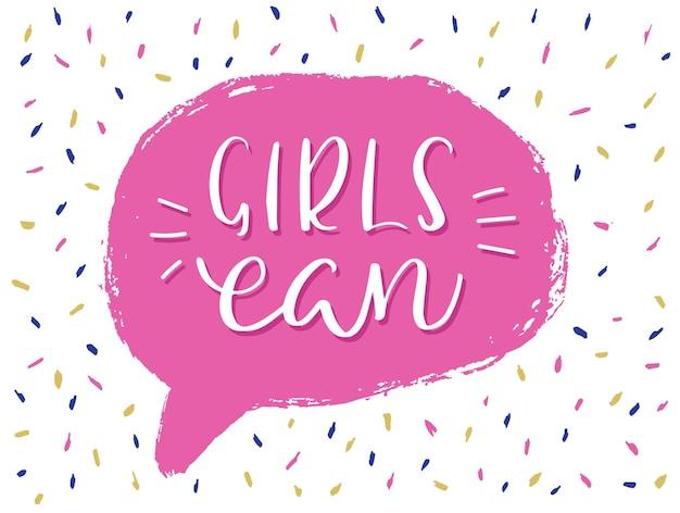 Le ragazze possono scrivere .. preventivo ispiratore e motivazionale.
