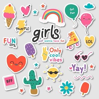 Pacchetto di adesivi per ragazze