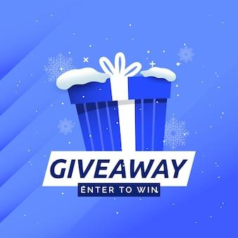 Concorso giveaway partecipa per vincere il modello di banner