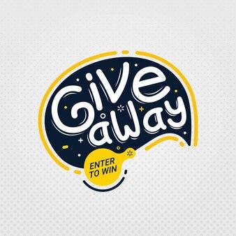 Giveaway ed entra per vincere il modello di progettazione del segno banner