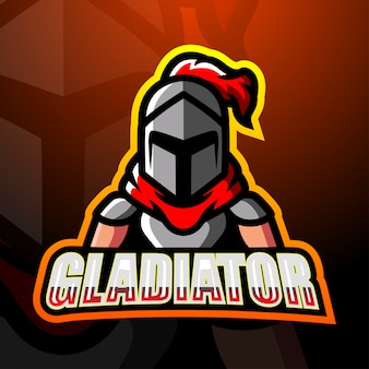Gladiator mascotte esport logo design