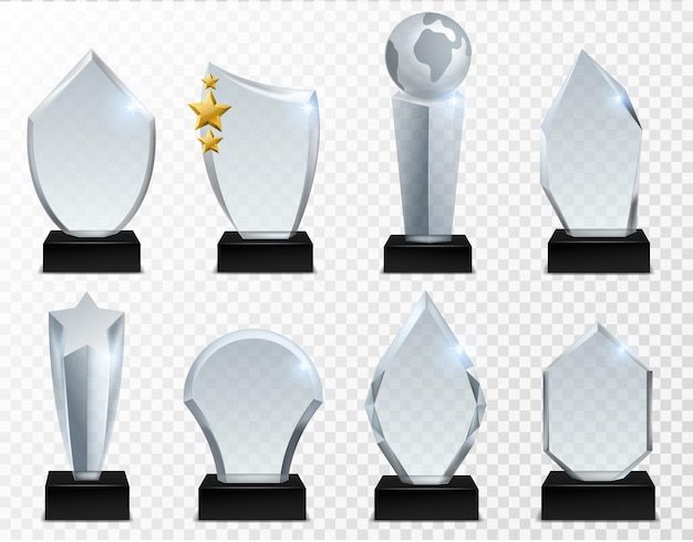 Illustrazione del premio di vetro