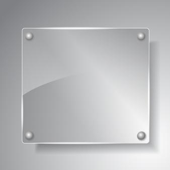 Illustrazione di bordo di vetro