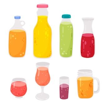 Bottiglie di vetro collezione di succhi di strega