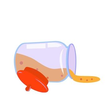 Barattolo di vetro con coperchio per la conservazione