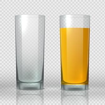 Bicchiere di succo di pesca illustrazione