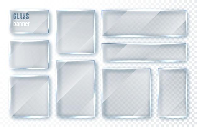 Set di piatti in vetro.