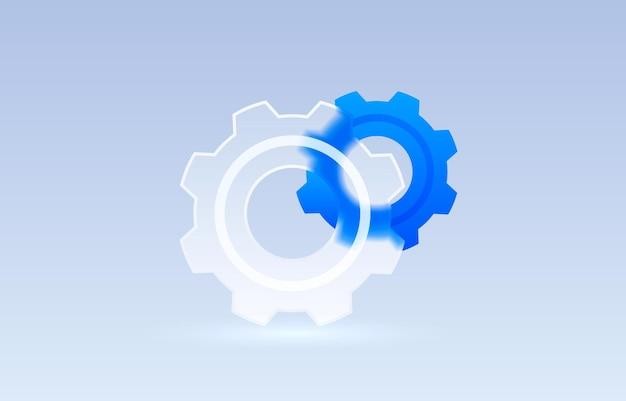 Vettore del segno della raccolta dell'icona trasparente meccanico delle regolazioni di vetro