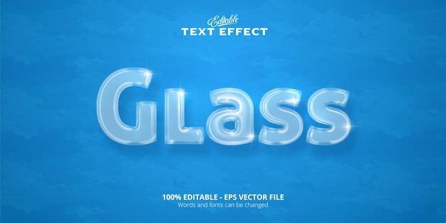 Testo in vetro, effetto testo modificabile
