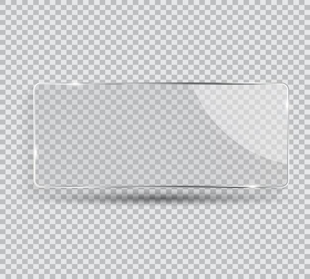 Cornice in vetro trasparente