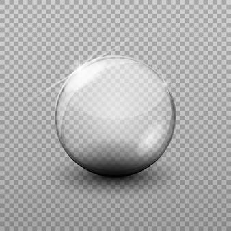 Palla di vetro trasparente