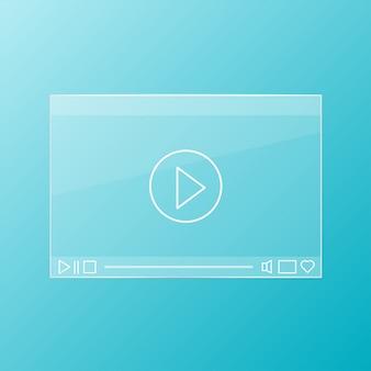 Lettore video in vetro