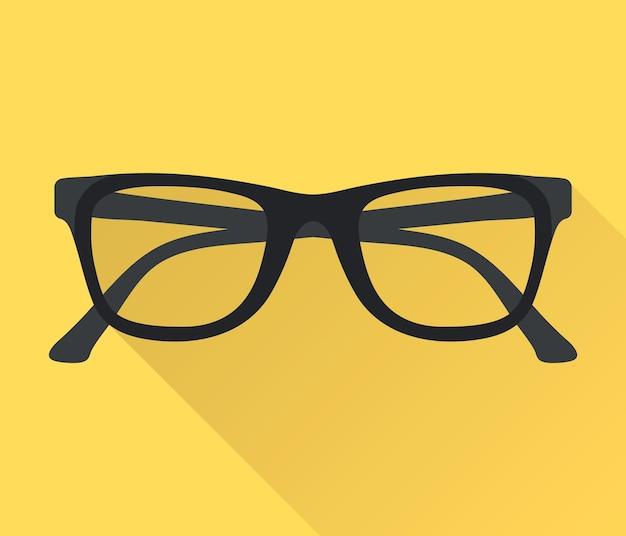 Bicchieri. simbolo degli occhiali. icona degli occhiali da vista
