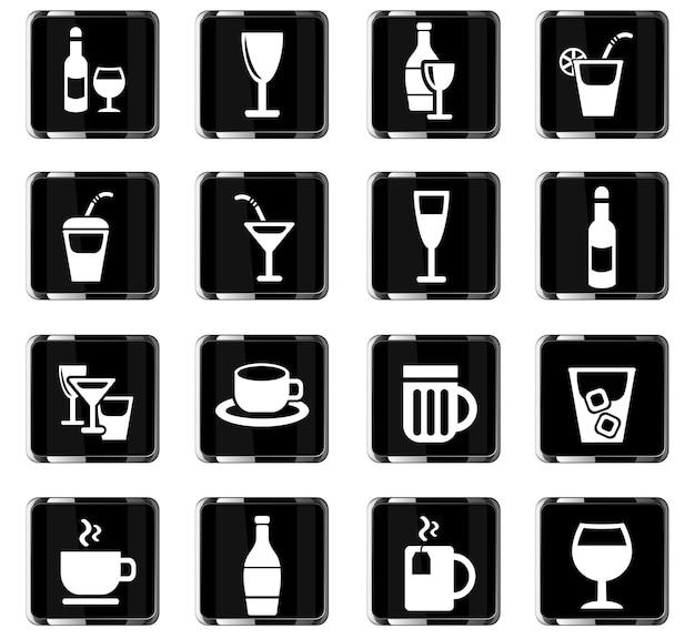 Icone web di occhiali per la progettazione dell'interfaccia utente