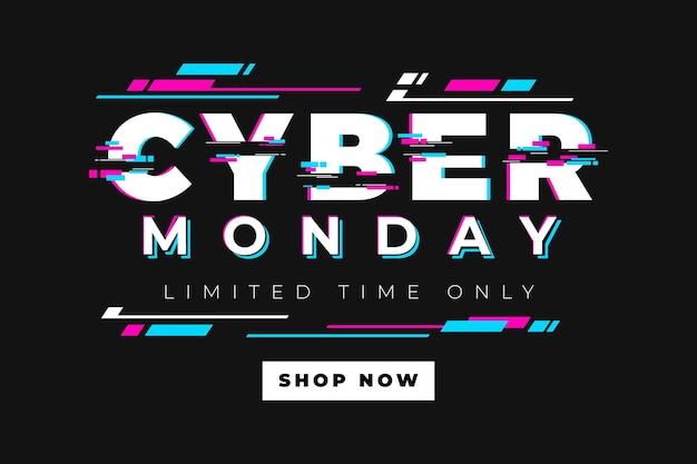 Glitch cyber lunedì concetto