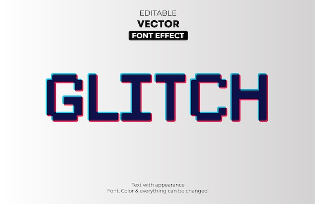 Glitch effetto testo modificabile