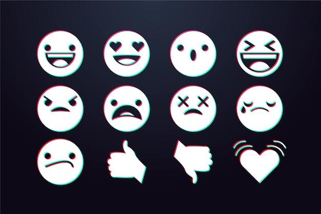 Pacchetto emoji glitch