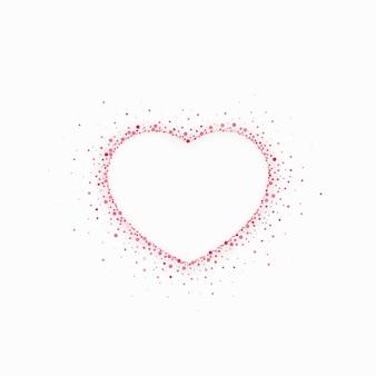 Forma di cuore scintillante per il design di san valentino. illustrazione
