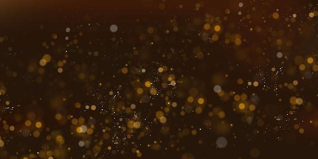 Particelle scintillanti di polvere di fata. concetto magico. priorità bassa festiva astratta. sfondo di natale. sfondo dello spazio.