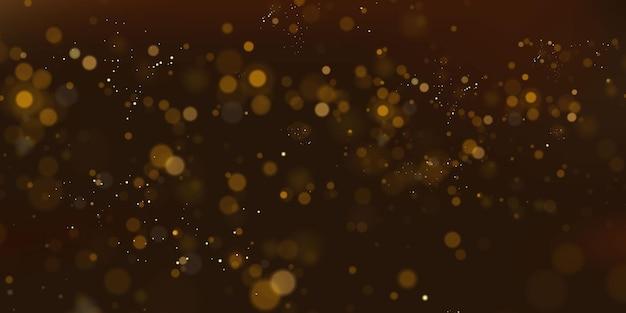 Particelle scintillanti di priorità bassa festiva astratta di concetto magico di polvere di fata