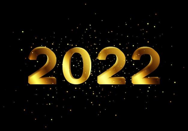 Paillettes luccicanti per buoni, inviti, articoli promozionali e siti web. effetto scintillio dorato capodanno 2022. l'oro luccica sfondo nero