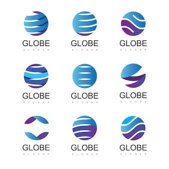 Modello di progettazione del logo globo