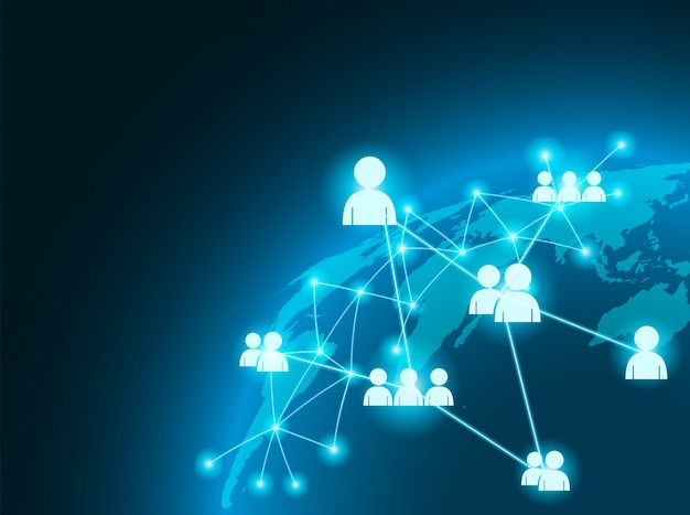 Concetto di connessione business globale