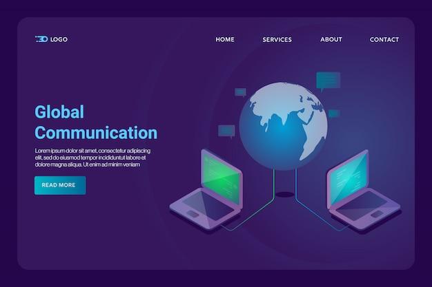 Pagina di destinazione della comunicazione globale
