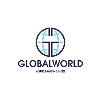 Modello di logo di connessione globale