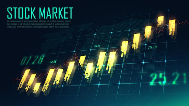Finanziario globale nel concetto grafico