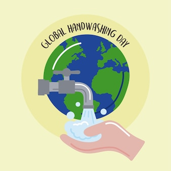 Poster della giornata mondiale del lavaggio delle mani