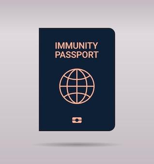 Passaporto di immunità globale senza rischio covid-19 reinfezione certificato pcr concetto di immunità coronavirus