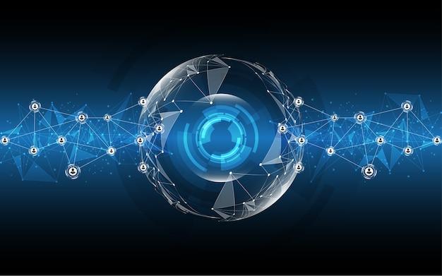 Fondo di tecnologia dell'estratto della connessione di rete globale