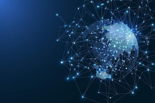 Illustrazione del concetto di connessione di rete globale