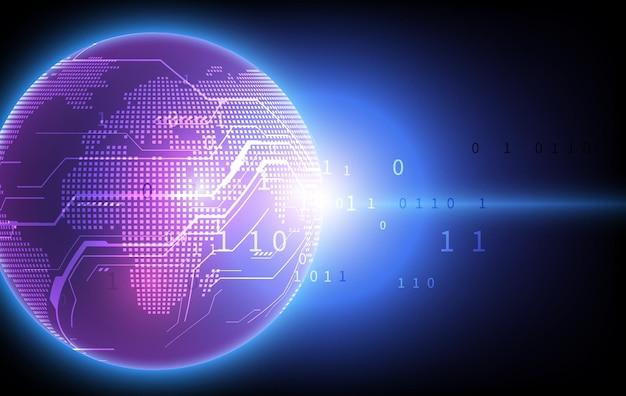 Fondo di concetto di innovazione tecnologica di connessione di rete globale